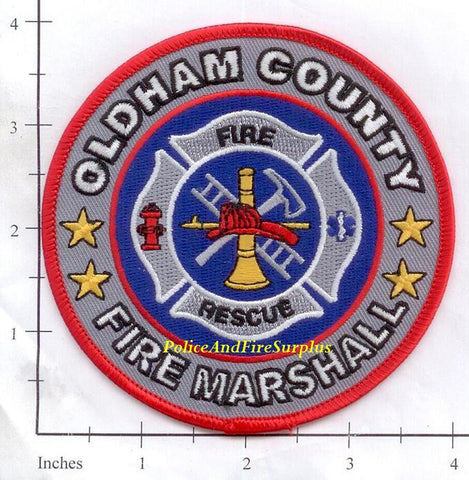 Kentucky - Oldham County Fire Marshall Fire Dept Patch