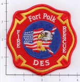 Louisiana - Fort Polk DES Fire Rescue Fire Dept Patch