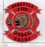 Maine - Sabattus Fire EMS Fire Dept Patch