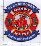 Maine - Scarborough Engine 4 Fire Dept Patch