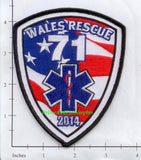 Maine - Wales Rescue 71 Fire Dept Patch