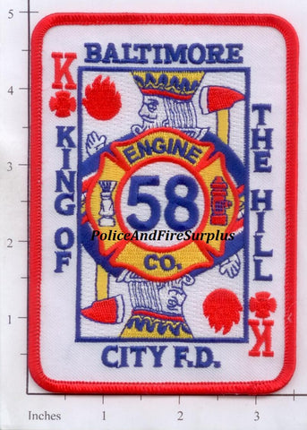 Maryland - Baltimore City Engine 58 Fire Dept Patch v1