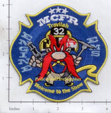 Maryland - Montgomery County Company 32 Fire Dept Patch