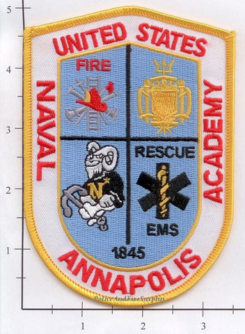 Maryland - Annapolis United States Naval Academy (001) R Fire Dept Patch