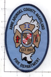 Maryland - Anne Arundel County Fire Dept Patch