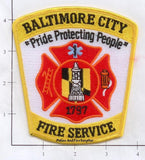Maryland - Baltimore City Fire Service Fire Dept Patch v1
