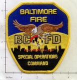 Maryland - Baltimore City Special Operations Command Fire Dept Patch