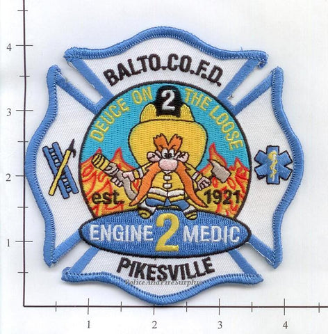 Maryland - Baltimore County Engine 2 Medic 2 Fire Dept Patch