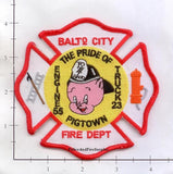 Maryland - Baltimore City Engine 55 Truck 23 Fire Dept Patch