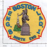 Massachusetts - Boston Engine   8 Ladder 1 Fire Dept Patch v1