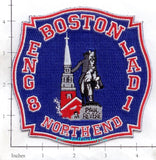 Massachusetts - Boston Engine   8 Ladder 1 Fire Dept Patch v2