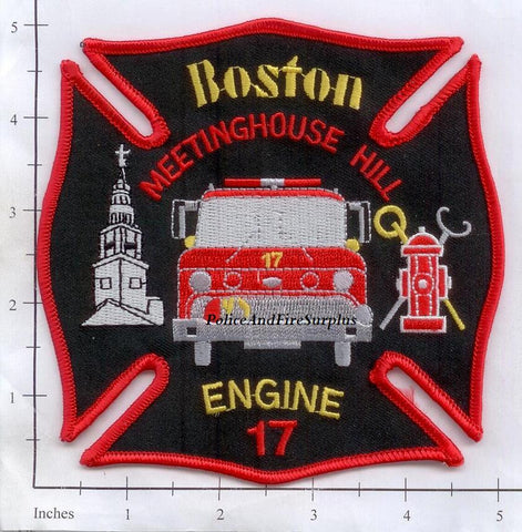 Massachusetts - Boston Engine  17 Fire Dept Patch
