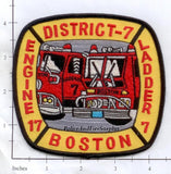 Massachusetts - Boston Engine  17 Ladder 7 District 7 Fire Dept Patch v2