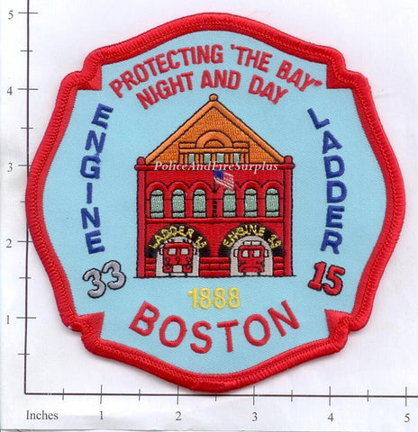 Massachusetts - Boston Engine 33 Ladder 15 Fire Dept Patch v1