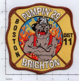 Massachusetts - Boston Engine  29 District 11 Fire Dept Patch v1