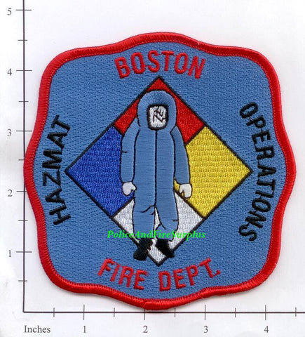 Massachusetts - Boston Haz Mat Operations Fire Dept Patch v1