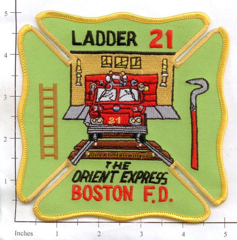 Massachusetts - Boston Ladder 21 Fire Dept Patch v2
