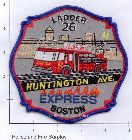 Massachusetts - Boston Ladder 26 Fire Dept Patch v1