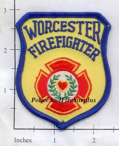 Massachusetts - Worcester Firefighter Fire Dept Patch v1