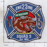 Michigan - Detroit Engine 23 Squad 3 Fire Dept Patch