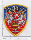 Michigan - Detroit Engine 34 Fire Dept Patch