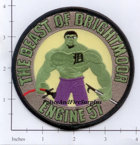 Michigan - Detroit Engine 57 Fire Dept Patch