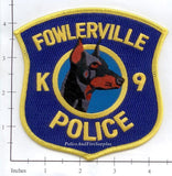 Michigan - Fowlerville K-9 Police Dept Patch