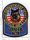 Michigan - Ionia K-9 Police Dept Patch