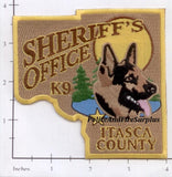 Minnesota - Itasca County Sheriff's Office K-9 Police Dept Patch