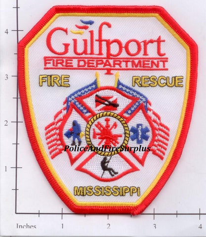 Mississippi - Gulfport Fire Dept Patch