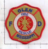 Mississippi - Glen Fire Rescue Fire Dept Patch