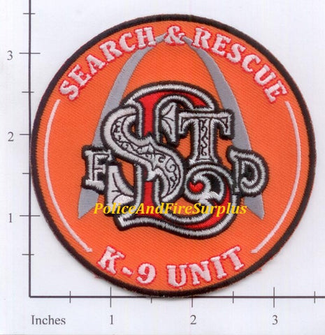 Missouri - St Louis K-9 Unit Search & Rescue Fire Dept Patch
