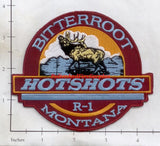 Montana -  Bitterroot Hot Shots R1 Fire Dept Patch v2