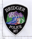 Montana -  Bridger Police Dept Patch