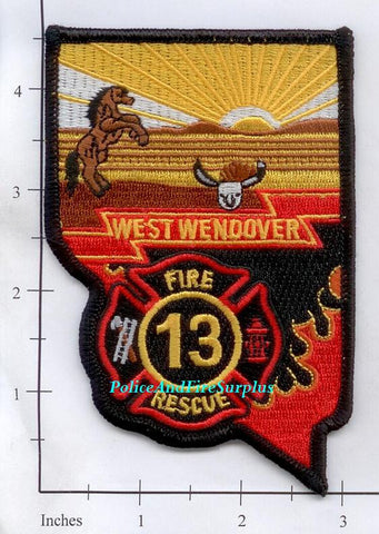 Nevada - West Wendover 13 Fire Rescue Fire Dept Patch