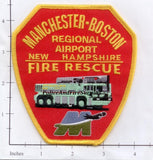 New Hampshire - Manchester Boston Regional Airport Fire Rescue Dept Patch