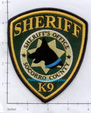 New Mexico - Socorro County Sheriff's Office K-9 Police Dept Patch