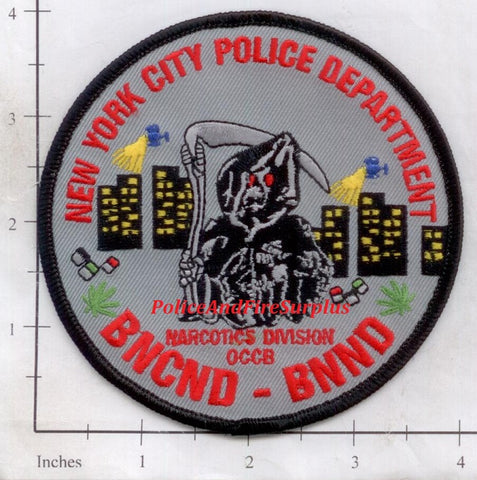 New York - New York City Brooklyn North Narcotics Police Dept Patch v2