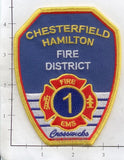 New Jersey - Chesterfield Hamilton Fire District Patch- Crosswicks