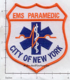 New York City City of New York Paramedic Fire Patch v14 Fully Embroidered