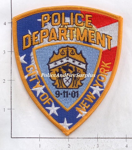 New York - New York City Police RWB 9-11 Dept Patch v1
