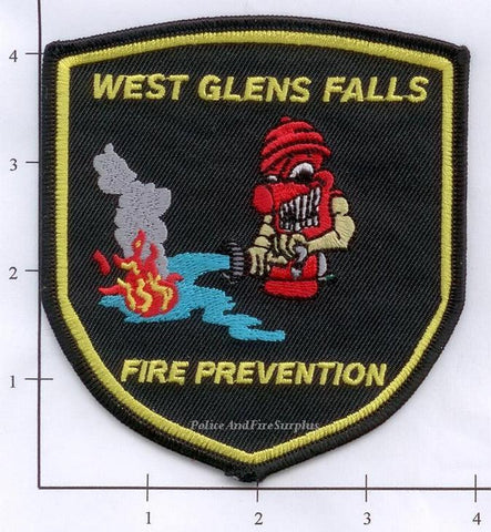 New York - West Glens Falls Fire Prevention Fire Dept Patch