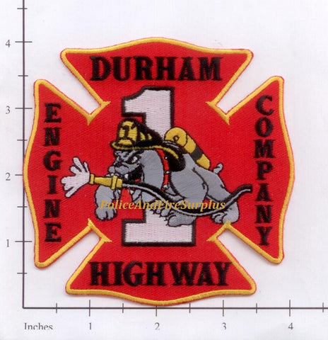 North Carolina - Durham Highway Engine 1 Fire Dept Patch