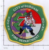 North Carolina - Durham Squad 7 Fire Dept Patch