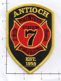 North Carolina - Antioch Station 7 Volunteer Fire Dept Patch