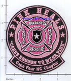 North Carolina - Cape Fear Pink Heals Fire Dept Patch