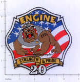North Carolina - Charlotte Engine 20 Fire Dept Patch
