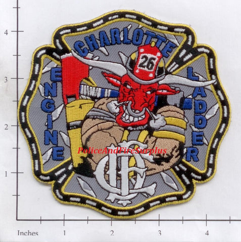 North Carolina - Charlotte Engine 26 Ladder 26 Fire Dept Patch