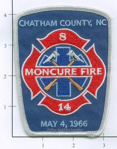 North Carolina - Moncure, Chatham County Fire Dept Patch