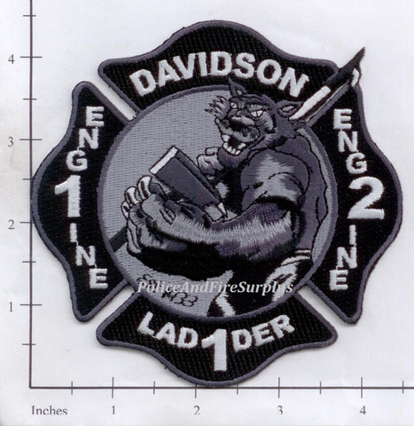 North Carolina - Davidson Engine 1 Engine 2 Ladder 1 Fire Dept Patch